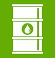 oil barrel icon green vector image vector image