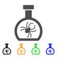 parasite container retort flat icon vector image