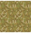 Pixel camo seamless pattern Brown desert or vector image vector image