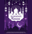 ramadan kareem muslim mosque lantern and moon vector image