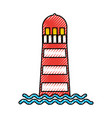 sea lighthouse isolated icon vector image