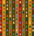 Seamless pattern with Christmas trees vector image vector image