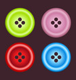 set sewing buttons vector image