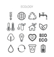 set simple monochromatic ecology icons vector image vector image