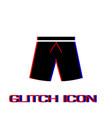 shorts icon flat vector image vector image