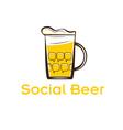 social beer vector image vector image