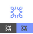 square abstract icon design symbol on white vector image vector image