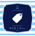 tag icon symbol graphic elements for your design vector image