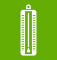 thermometer indicates low temperature icon green vector image vector image