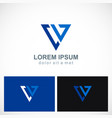 triangle line geometry company logo vector image vector image