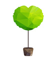 triangle tree in pot as heart vector image vector image