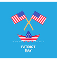 Two flags and boat Patriot day Flat vector image vector image