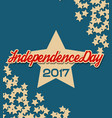 usa independence day banner with stars vector image vector image