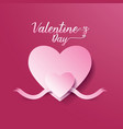 Valentines day abstract background heart and ribbo vector image