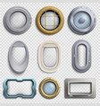 various portholes isolated set submarine vector image vector image