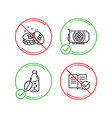 water bottle gpu and bitcoin icons set approved vector image vector image