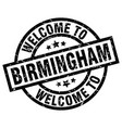 welcome to birmingham black stamp vector image vector image