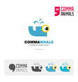 whale animal concept icon and logo template vector image vector image