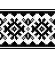 winter pattern - sami people folk art vector image vector image