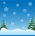 winter scene background snowflakes trees vector image vector image