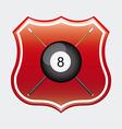 billiard emblem vector image