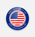 4th july independence day badge design vector image vector image