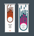 abstract comet on vertical banners vector image vector image