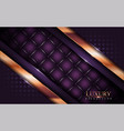 abstract luxurious dark purple with golden lines vector image vector image