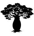 african tree silhouette vector image