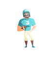 american football player male sportsman character vector image