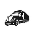 american transport truck logo vector image