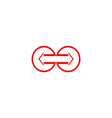 arrow round logo vector image