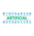 artificial intelligence minimal infographic banner vector image vector image
