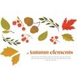 Autumn decorative set vector image