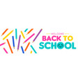 back to school children color pencil web banner vector image vector image
