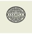beautiful floral oval emblem badge monogram