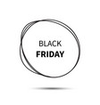 black friday sale design template friday vector image vector image