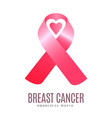 breast cancer campaign vector image vector image
