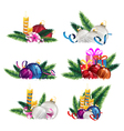 Bright celebratory decoration elements vector image vector image
