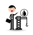 businessman oil concept tower petroleum vector image vector image