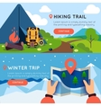 Camping Colored Banner Set vector image vector image