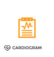 cardiogram heart diagnosis icon vector image vector image