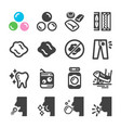 chewing gum icon set vector image