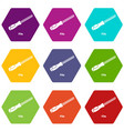 chisel icons set 9 vector image vector image