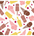 chocolate berry lemon ice cream seamless pattern vector image vector image