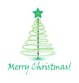 christmas tree christmas card icon vector image vector image