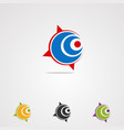 circle spot compass logo icon element and vector image
