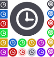 Color time icon set vector image vector image