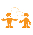 conversation people vector image vector image