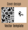 cover design with halloween pattern vector image vector image